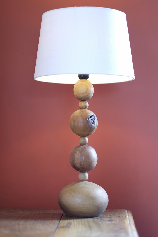 Pied de lampe bois tourné